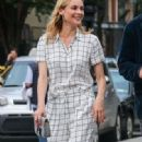 Actress Diane Kruger and Joshua Jackson spotted out for an evening stroll in New York City, New York on June 8, 2015