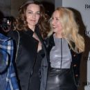 Catherine Bailey and Jerry Hall attend a private view of David Bailey's Stardust, a exhibition of images by David Bailey supported by Hugo Boss, at the National Portrait Gallery - 454 x 562