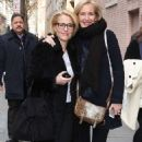 Gillian Anderson and Jennifer Nadal at AOL Build studios in NYC - 454 x 752
