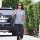 Jordana Brewster: hits the gym for a morning workout in Los Angeles