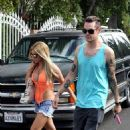 Ashley Tisdale and Christopher French at a Labor Day party in Hollywood (September 1)