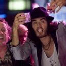 Colm Meaney as Jonathan Snow and Russell Brand as Aldous Snow in Universal Pictures' Get Him to the Greek.