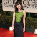 Zooey Deschanel arrives at the 69th Annual Golden Globe Awards held at the Beverly Hilton Hotel on January 15, 2012 in Beverly Hills