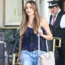 Sofia Vergara in Jeans – Shopping at Saks Fifth Ave in Beverly Hills