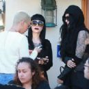 Amber Rose and Kat Von D have lunch at Urth Caffe in West Hollywood, California - February 10, 2014 - 454 x 333