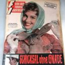 Johanna von Koczian - Funk und Fernseh Illustrierte Magazine Cover [West Germany] (21 April 1957)