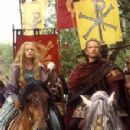 Edward Atherton As King Arthur And Samantha Mathis As Guinevere In The Mists Of Avalon(2001)