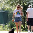 Ashley James – Spotted with her puppy in Local park - 454 x 514