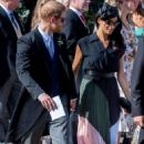 Meghan Markle and Prince Harry – Leaving Daisy Jenks and Charlie Van Straubenzee's wedding in Surrey - 454 x 716