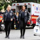 Mariska Hargitay – On set of 'Law and Order: SVU' in Manhattan - 454 x 445