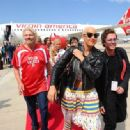 Amber Rose attends the Launch of Virgin America's First Flight from Los Angeles to Philadelphia at Los Angeles International Airport in Los Angeles, California - April 4, 2012 - 454 x 333