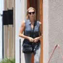 Charlize Theron at the hair salon in West Hollywood