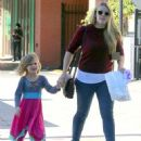 Busy Philipps and her daughter Birdie running errands in Los Angeles, California on December 14, 2013