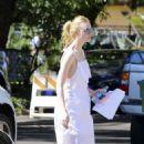 Elle Fanning in White Dress out in LA - 454 x 661