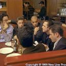 (Left to right) Writer/Director Ben Younger, Scott Caan, Vin Diesel, Giovanni Ribisi and Jamie Kennedy on the set of New Line Cinema's drama, Boiler Room - 2/2000 - 350 x 233