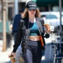 Lucy Hale – Gets coffee in Los Angeles