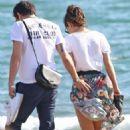 Alessandra Mastronardi and Ross McCall on the beach in Fregene - 454 x 681