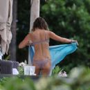 Lea Michele – Wearing a swimsuit in Hawaii