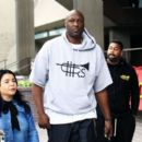 Lamar Odom is spotted out filming a new reality tv show in Beverly Hills, California on January 9, 2017 - 454 x 393