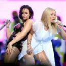 Demi Lovato and Iggy Azálea At The 2015 MTV Video Music Awards - Pepsi Stage - Show - 454 x 303