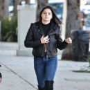 Ariel Winter in Black Leather Jacket – Out in Studio City