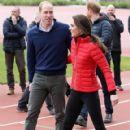 Prince William, Duchess Catherine and Harry visited London Marathon Day - 420 x 600