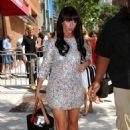 Jennifer Love Hewitt - Leaves The Wendy Williams Show In A Multi Colored Mini Dress, 15.07.2010.