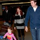 Alyson Hannigan: at JFK Airport in New York