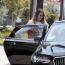Mandy Moore with her fiancee out in Los Angeles - 454 x 568