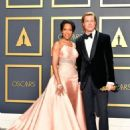 Regina King and Brad Pitt At The 92nd Annual Academy Awards - Press Room