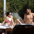Kendall Jenner – Poolside bikini candids with her BF in Miami