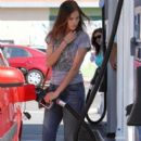 Isabel Lucas Out Getting Gas In Los Angeles