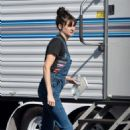 Shailene Woodley – Heads on the set of an untitled Drake Doremus project in LA