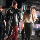 """Big Time Rush continued to be hard at work in Vancouver! October 26, the boys were seen shooting the music video for their new single """"Music Sounds Better With You"""""""