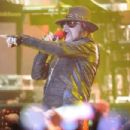 Singer Axl Rose of Guns N' Roses performs at the Hollywood Palladium on March 9, 2012 in Hollywood, California