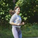 Davina McCall – Jog in a country park in Kent - 454 x 517