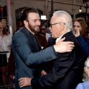 Chris Evans and Stan Lee - April 12, 2016- Premiere of Marvel's 'Captain America: Civil War' - Red Carpet - 445 x 600