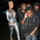 Amber Rose and Kanye West Attend the Persona Magazine Launch party in New York - September 11, 2009 - 454 x 601