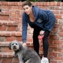 Heavily pregnant Jamie-Lynn Sigler keeps active as she takes her beloved pup for a hike - 454 x 491