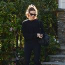 Kate Beclkinsale in Black Outfit – Out in Los Angeles - 454 x 667