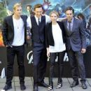 'The Avengers' stars at a photocall in Rome (April 21)