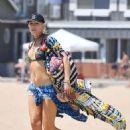 Gwen Stefani in Bikini at New Port Beach