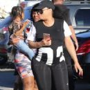 Blac Chyna and Kourtney Kardashian at The Pumpkin Patch in Los Angeles, California - October 14, 2016 - 454 x 728