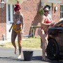 Jemma Lucy and Laura Alicia Summers in Bikini – Car Washing in Manchester - 454 x 447