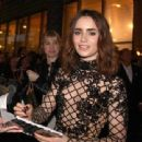 Lily Collins attending the