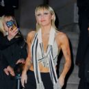 Miley Cyrus – In a silk top at the Bowery Hotel in New York