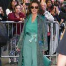 Alyssa Milano – Leaving 'Good Morning America' in New York