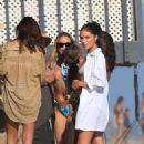 Olivia Culpo – Celebrating Cara Santana's birthday at the beach in Malibu