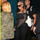 Amber Rose at Mastros in Beverly Hills, California - August 25, 2016