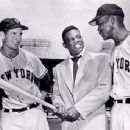 Bobby Thompson, Willie Mays & Monte Irvin